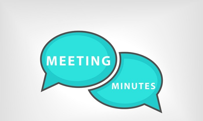 meeting and minutes speech bubbles