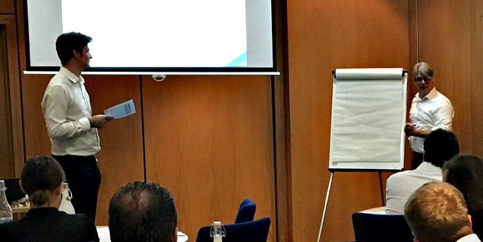 Ian Rennie and Dario Crispini at Kaizen's MiFID II reporting workshop