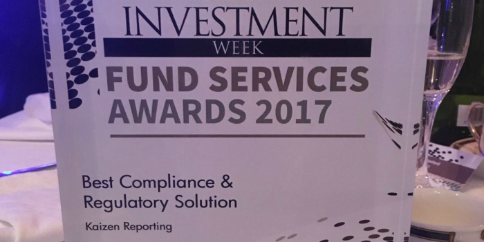 Kaizen wins Best Compliance and Regulatory Solution at Fund Services Awards