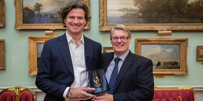 Ian Rennie and Dario Crispini with the Queen's Award