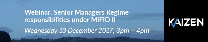 Listen now: Webinar – Senior Managers Regime responsibilities under MiFID II