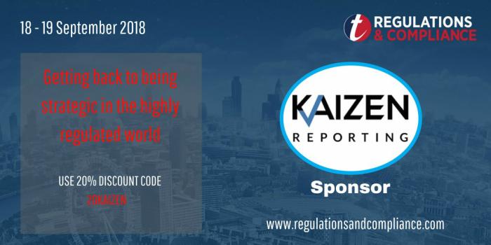 TSAM compliance and regulation conference - Kaizen sponsor