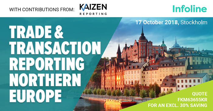 Join us in Stockholm for the Trade and Transaction Reporting Conference