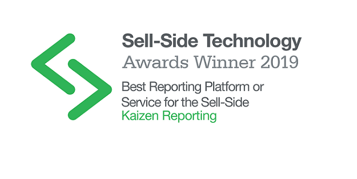 Kaizen wins 'Best Reporting Platform or Service' at Sell-Side Technology Awards