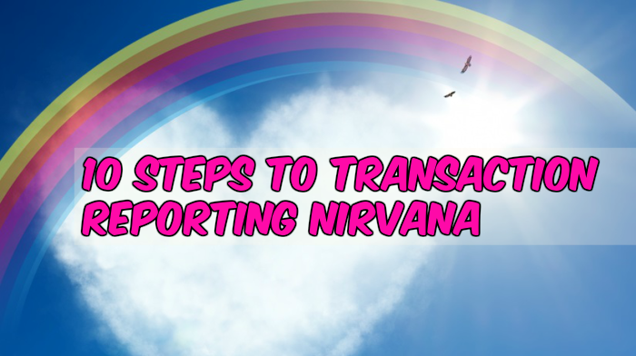 10 steps to transaction reporting nirvana