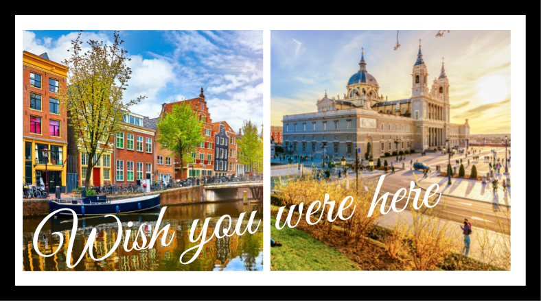 La ISLA ESMA, postcards from Madrid and Amsterdam
