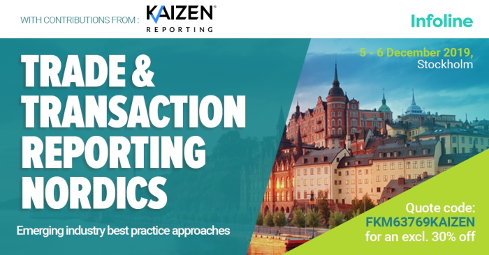 Join us at Infoline's Trade and Transaction Reporting Conference in Stockholm