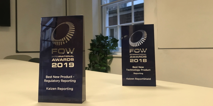 Kaizen Reporting wins 'Best New Product: Regulatory Reporting' at the FOW International Awards