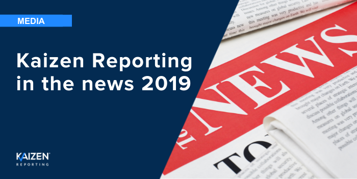 Kaizen Reporting in the news 2019