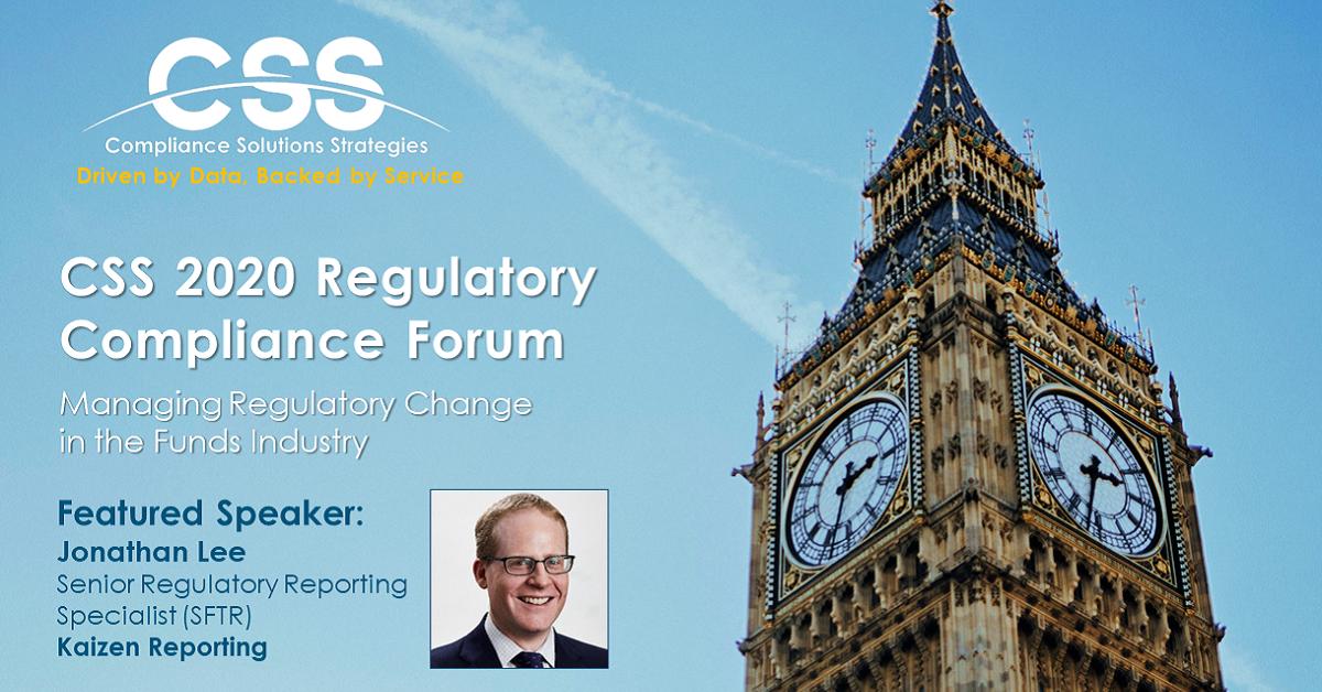 Kaizen's Jonathan Lee to speak at CSS 2020 Regulatory Compliance Forum