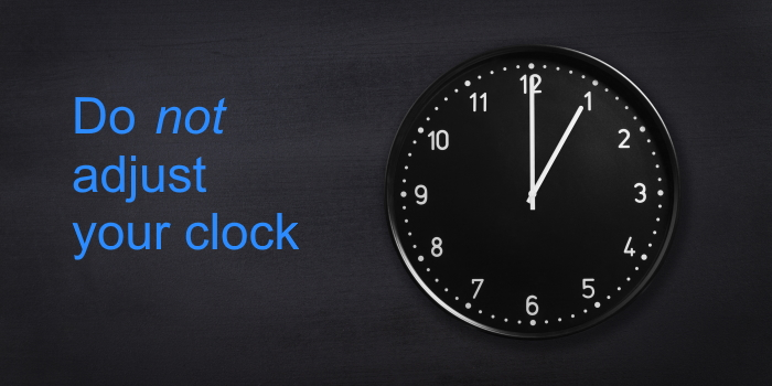 Do not adjust your (transaction reporting) clock