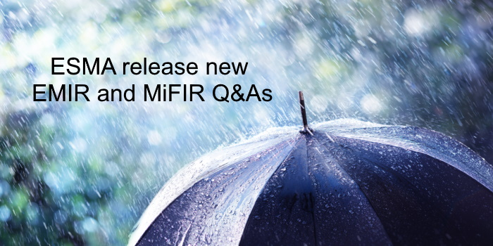 ESMA releases new EMIR and MiFIR Q&As
