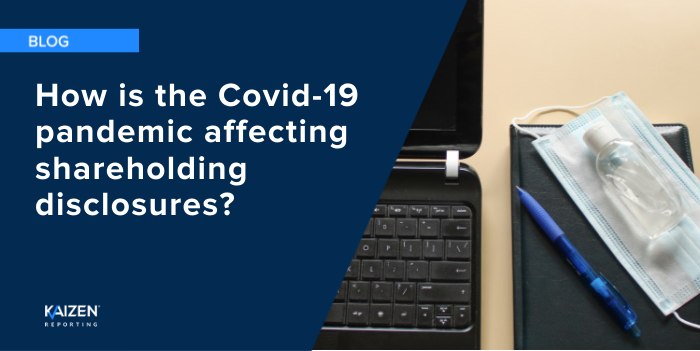 How is the Covid-19 pandemic affecting shareholding disclosures?