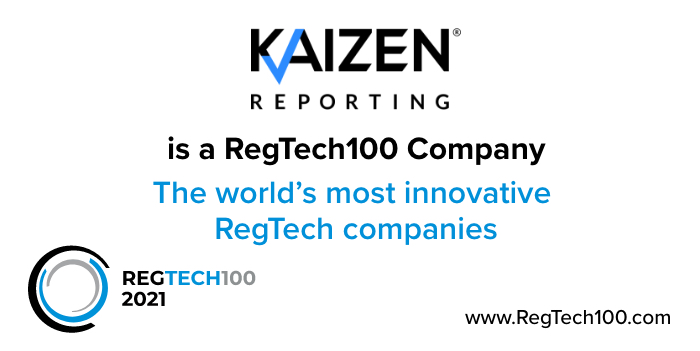 Media release: Kaizen Reporting selected as RegTech 100 company for the third consecutive year