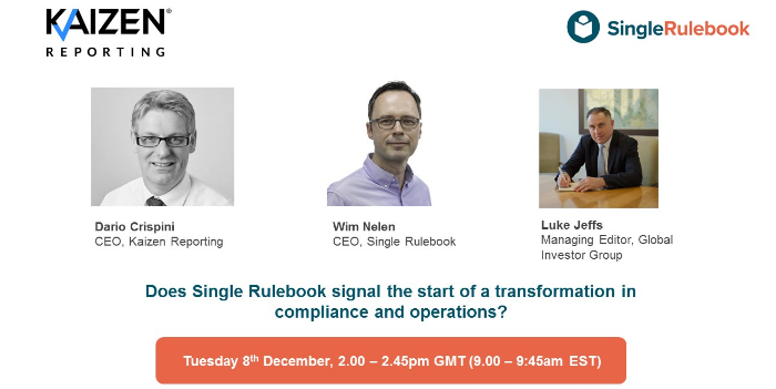 Live discussion: Does Single Rulebook signal the start of a transformation in compliance and operations?