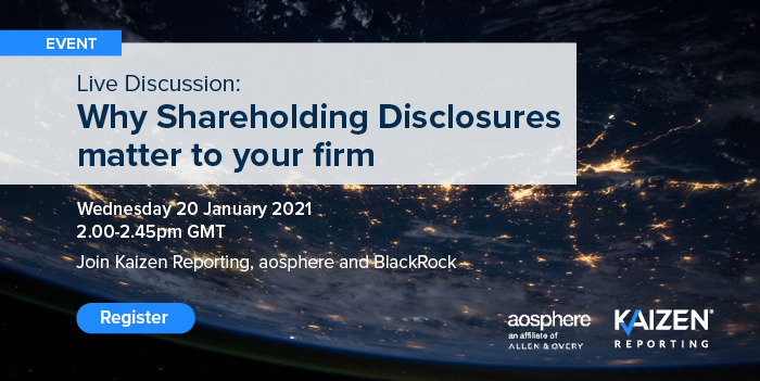REGISTER: Why Shareholding Disclosures matter to your firm