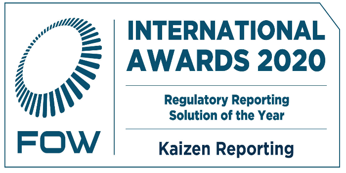Kaizen Reporting wins 'Regulatory Reporting Solution of the Year' at the FOW International Awards 2020