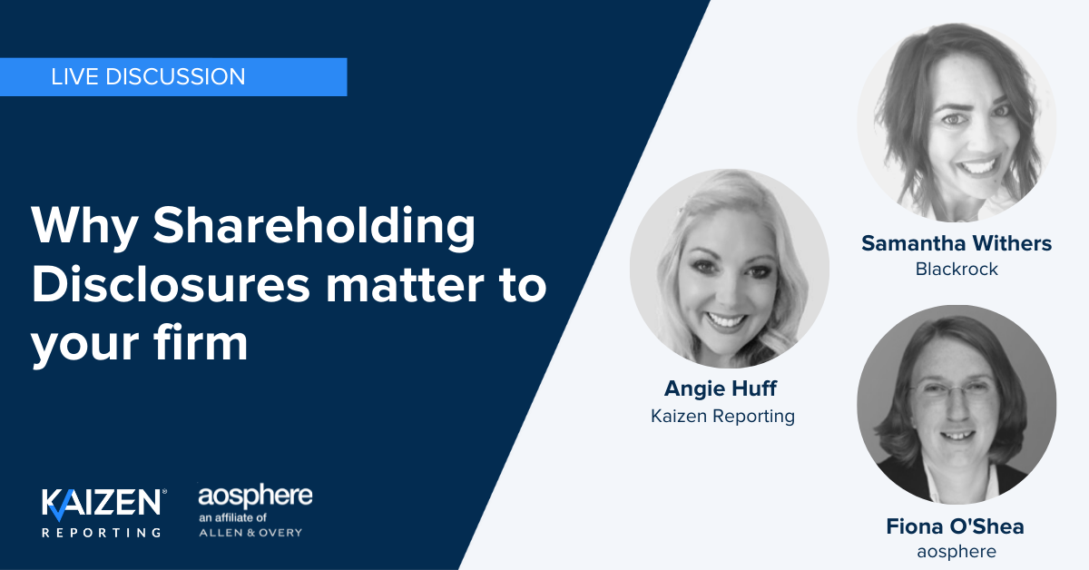 WATCH: Why Shareholding Disclosures matter to your firm