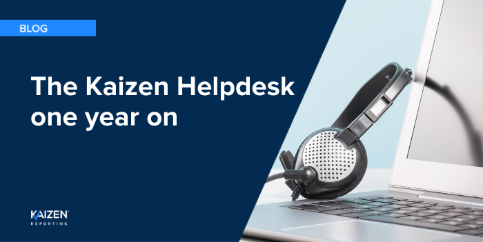 The Kaizen Helpdesk one year on