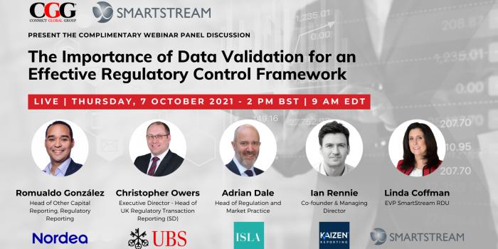 Webinar panellists for The Importance of Data Validation for an Effective Regulatory Control Framework