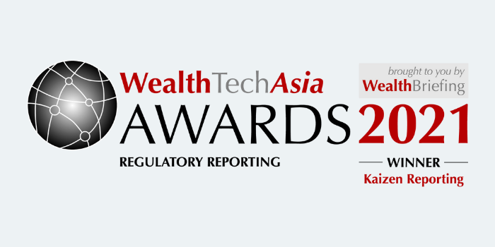 Kaizen Reporting wins at the WealthTechAsia Awards 2021
