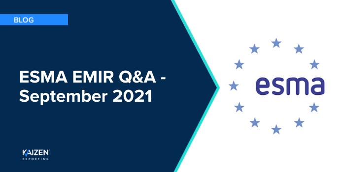 ESMA EMIR Q&A – September 2021